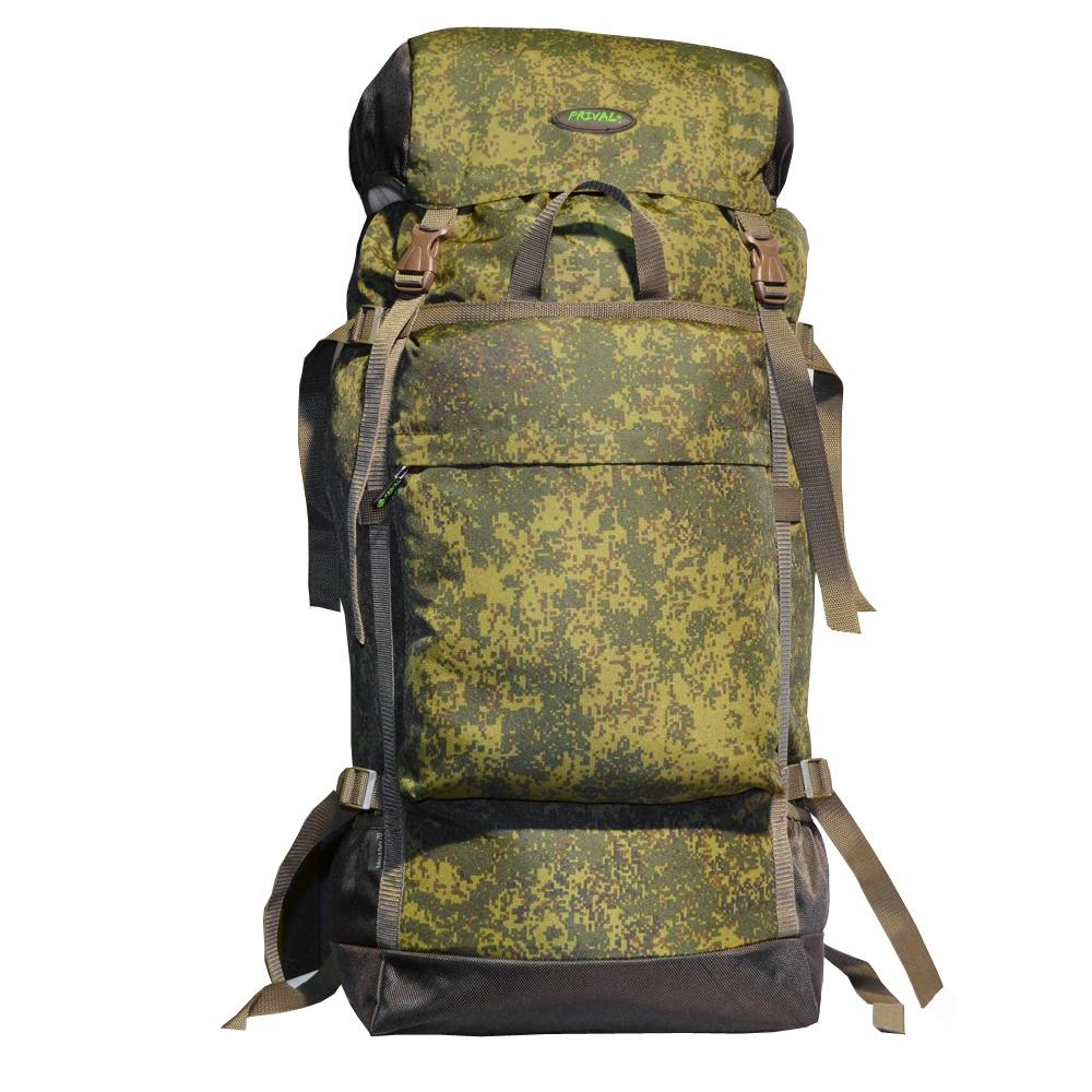 Рюкзак Михалыч PRIVAL 70л (цифра)Рюкзаки<br>Универсальный, легкий и объемный рюкзак. <br>Прекрасный выбор для любителей охоты, рыбалки <br>или начинающих путешественников. Минимальный <br>вес, регулируемый клапан, две ручки для <br>транспортировки, большой фронтальный карман <br>и боковые кармашки для длинномерных предметов <br>дополнят комфорт при эксплуатации. Регулировка <br>подвесной системы максимально проста, а <br>широкий поясной ремень фиксируется на бедрах, <br>распределяя до 80 процентов нагрузки. Компрессионные <br>стяжки по бокам позволяют регулировать <br>объем. Назначение: Туризм, рыбалка, охота <br>Число лямок: 2 Тип конструкции: Мягкий Грудная <br>стяжка: Есть Поясной ремень: Есть Боковая <br>стяжка: Нет Клапан: Есть; съемный; без кармана <br>Ткань: Poly Oxford 600D PU RipStop; Polyester 1000D Объём, л: <br>70; 90 Фурнитура: ABS пластик; застежка молния <br>№ 10 Вес, кг: 0,76; 1 Цвет: Камуфляж, Хаки<br><br>Пол: унисекс
