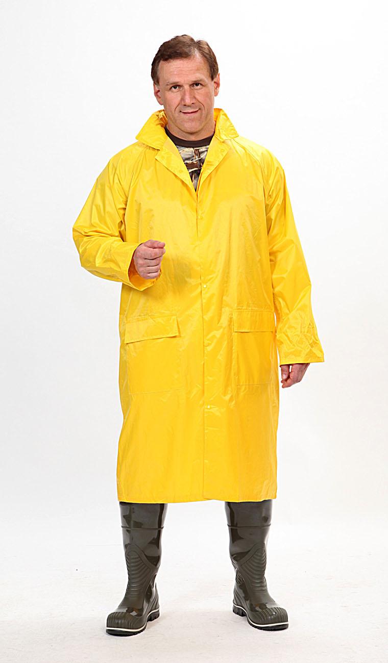 Плащ Рыбак нейлоновый желтыйПлащи<br>На воротнике карман на молнии для капюшона. <br>Швы проклеены изнутри.<br><br>Пол: мужской<br>Сезон: демисезонный<br>Цвет: желтый<br>Материал: текстиль