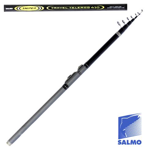 Удилище Поплавочное С Кольцами Salmo Sniper Удилища поплавочные<br>Удилище попл. с кол. Salmo Sniper TRAVEL TELEROD 4.10 дл.4.10м/тест <br>до 15г/строй M/305г/7секц./дл.тр.77см Телескопическое <br>удилище среднего строя и средней жесткости. <br>Верхние два колена бланка удилища изготовлены <br>из графита IM7, а остальные колена – из облегченного <br>стекловолокна. Удилище в транспортном положении <br>имеет небольшую длину. Удилище укомплектовано <br>облегченными кольцами SIC, на верхнем колене <br>имеется дополнительное разгрузочное кольцо, <br>на рукоять нанесено противоскользящее <br>напыление и установлен быстродействующий <br>катушкодержатель типа CLIP UP. • Материал <br>бланка удилища – композит • Строй бланка <br>средний • Конструкция телескопическая <br>• Тип удилища – TRAVEL • Кольца пропускные: <br>– облегченные – дополнительное разгрузочное <br>– со вставками SIC • Рукоятка с противоскользящим <br>покрытием • Катушкодержатель быстродействующего <br>типа CLIP UP<br><br>Сезон: лето
