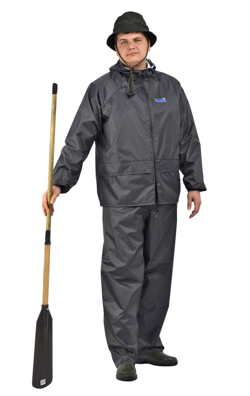 Костюм влагозащитный MEMBRANE WPL (56-58, 170-176)Костюмы неутепленные<br>Легкий и прочный мембранный костюм с водостойкой <br>застежкой Особенности: •куртка и брюки <br>•регулируемый капюшон •вентиляционные <br>отверстия под рукавами •вентиляционные <br>отверстия на спине •центральная молния <br>DRY ZIP •два кармана с клапанами Описание <br>ткани: Специальная прочная мембранная плащевая <br>ткань Membrane- WPL: •водоупорность по ISO811:1981: <br>более 5000 мм. водяного столба •паропроницаемость <br>по ASTM E96:1995: более 6000 грамм / кв.м. / 24 часа <br>•паропроницаемость по ГОСТ 22900-78 : 3,21 мг/кв.см./час <br>•цвет: темно-стальной (темно-серый)<br><br>Пол: унисекс<br>Размер: 56-58<br>Рост: 170-176<br>Сезон: демисезонный<br>Цвет: серый