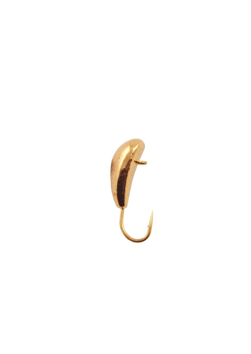 Морм. Вольф.Dixxon-Rus чесночинка с ушком d6, Мормышки<br>Мормышка вольфрамовая для подледной ловли. <br>Крючок - FUDO (Япония) Вес - Цвет - золото<br>