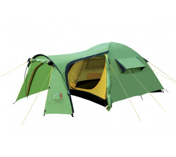 Палатка TRAMP 4Палатки<br>Четырехместная палатка Indiana TRAMP 4 - очень <br>просторная, имеет вместительный тамбур <br>и отлично подойдет для многодневного отдыха <br>на природе. Палатка выполнена из «дышащего» <br>полиэстера, хорошо продувается, имеет вентиляционные <br>окна. <br>Материал тента и дна надежно защищен от <br>проникновения влаги в дождливую погоду, <br>а также не боится прямых солнечных лучей. <br>Палатка качественная, надежная, имеет прочные <br>крепления и дуги и будет служить не один <br>год. <br>Характеристики Количество мест 4<br>Масса, кг 4.9<br>Материал дуг стекловолокно<br>Водонепроницаемость дна, мм. водяного столба <br>10000<br>Водонепроницаемость тента, мм. водяного <br>столба 4000<br>Материал дна полиэтилен<br>Материал тента Polyester 75D, 180T<br>Материал внутренней палатки «дышащий» <br>полиэстер<br>Москитные сетки есть<br>Назначение Туристические<br>Внутренняя палатка есть<br>Тип каркаса внешний<br>Геометрия полусфера<br>Герметизация швов термоусадочной лентой<br>Размеры внешней палатки (тента) (ДхШхВ) <br>220х260х130 см<br>Размеры внутренней палатки (ДхШхВ) 210х240х125 <br>см<br>Количество входов 2<br>Количество комнат 1<br>Количество тамбуров 1<br>Вентиляционные окна есть<br>Возможность крепления фонарика, карманы <br>для аксессуаров<br>Размеры в упакованном виде 63х17х17 см&amp;nbsp;<br><br>Сезон: лето