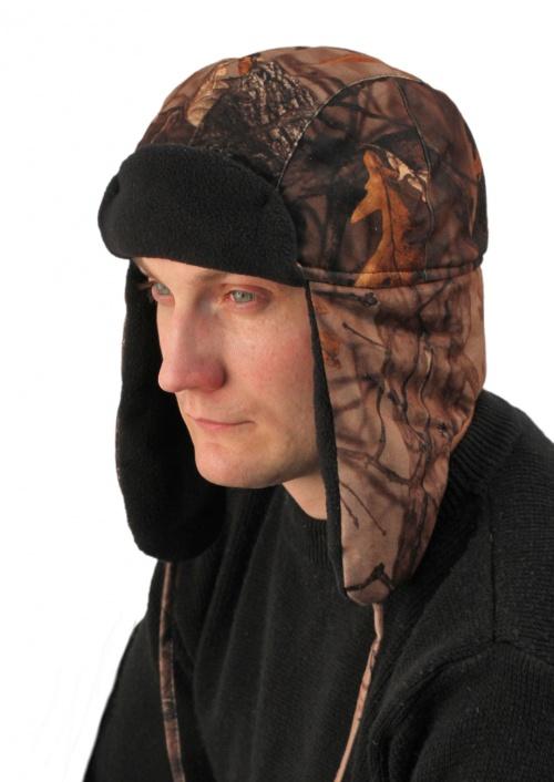 Шапка Антифрост кмф Дубовый лес тк.АловаШапки<br>Шапка на подкладке из флиса. Затяжник в <br>затылочной области, регулирующий объем <br>шапки.<br><br>Пол: мужской<br>Сезон: зима<br>Цвет: коричневый