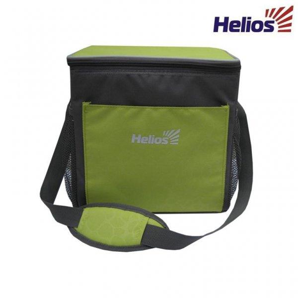 Изотермическая сумка холодильник HS-1657 Изотермические сумки и термобоксы<br>Практичная изотермическая сумка отлично <br>подойдет для пикника, пляжного сезона, для <br>транспортировки продуктов в автомобиле <br>или перевозки медикаментов. Надежный изотермический <br>слой обеспечивает длительное хранение <br>продуктов. Рекомендуется использовать <br>аккумуляторы холода для поддержания необходимой <br>температуры. Основные преимущества: Большое <br>отделение для продуктов. Вместительный <br>внешний карман. 2 внешних боковых кармана <br>из сетки. Карман из сетки под крышкой для <br>аккумуляторов. Удобная регулируемая лямка. <br>Антибактериальная подкладка из PEVA. Материал: <br>Полиэстер 600 D. Объем сумки: 15 л. Размеры: <br>29 х 20,5 х 28см. Вес: 0,52 кг.<br>