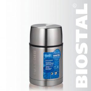 Термос Biostal Авто NRP-700 0,7л (широкое горло,суповой)*Термосы<br>Легкий и прочный Сохраняет напитки и продукты <br>горячими или холодными долгое время Изготовлен <br>из высококачественной нержавеющей стали <br>Корпус покрыт защитным прозрачным лаком <br>Предназначен для первых и вторых блюд С <br>крышкой-чашкой и дополнительной пластиковой <br>чашкой на выставке образец без коробки!<br>