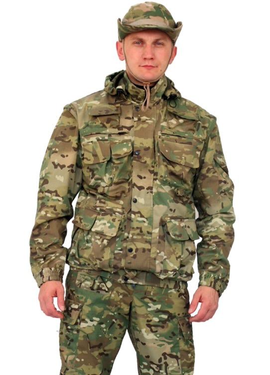 Костюм мужской Gerkon Commando Transform летний кмф Костюмы неутепленные<br>Костюм куртка и брюки Многофункциональная <br>модель-трансформер (куртка-жилет + брюки-шорты) <br>- Многофункциональная объёмные карманы <br>- отстегивающиеся рукава и низ брюк – съемный <br>капюшон на подкладке-сетка с регулировкой <br>объема – складки на спинке для свободы <br>движения – короткая куртка на резинке - <br>полочки на подкладке-сетка – регулировка <br>объема по низу брючин<br><br>Пол: мужской<br>Размер: 52-54<br>Рост: 182-188<br>Сезон: лето<br>Материал: Смесовая (50% хлопок, 50% полиэфир), пл. 210 г/м2,