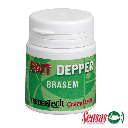 Ароматизатор Sensas Feeder Bait Dipper Brasem 0.03ЛАроматизаторы<br>Ароматизатор Sensas Feeder BAIT DIPPER Brasem 0.03л белая <br>рыба/наносится на насадку/уп.0,03л FEEDER BAIT <br>DIPPER BRASEM - специально подобранный состав <br>одинаково придётся по вкусу любой белой <br>рыбе.<br><br>Сезон: лето