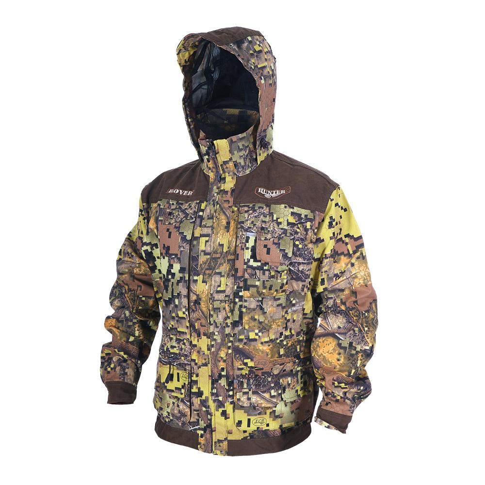 Куртка ХСН «Ровер-охотник» (9792-11) (Дубок-1, Куртки неутепленные<br>Отлично подойдет любителям охоты и активного <br>отдыха. Куртка изготовлена из нешуршащей <br>хлопкоэфирной ткани с водоотталкивающей <br>пропиткой. Комфортная температура эксплуатации: <br>от +10°С до +20°С. Особенности: - утягивающийся <br>съемный капюшон с козырьком; - вшитая противомоскитная <br>сетка; - 11 объемных карманов, позволяющих <br>удобно разместить в них флягу, телефон и <br>все необходимое; - особый крой рукава, обеспечивающий <br>свободу движения; - застегивается на молнию; <br>- усиленная ткань на плечах; - манжеты на <br>пуговицах с возможностью регулировки ширины; <br>- двойной джинсовый запошивочный шов.<br><br>Пол: мужской<br>Размер: 62 - 64 / 188<br>Сезон: лето<br>Цвет: коричневый<br>Материал: Хлопкополиэфирная ткань