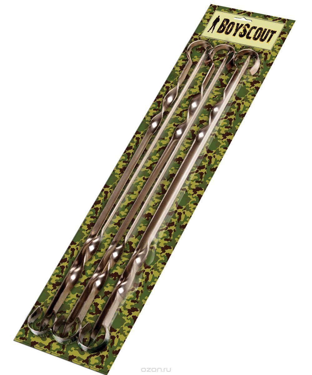 Набор шампуров BOYSCOUT плоских 60см 6 штук в Шампуры<br>Изготовлены из нержавеющей стали В блистере <br>6 штук Размер: 60 см Набор BOYSCOUT 61328 Вы всегда <br>сможете взять с собой, ведь он в удобной <br>упаковке или подарить. Плоские шампура <br>идеально подойдут для приготовления шашлыков, <br>шампура удобно мыть. Нержавеющая сталь <br>из которого сделаны шампуры прослужит не <br>один год.<br>