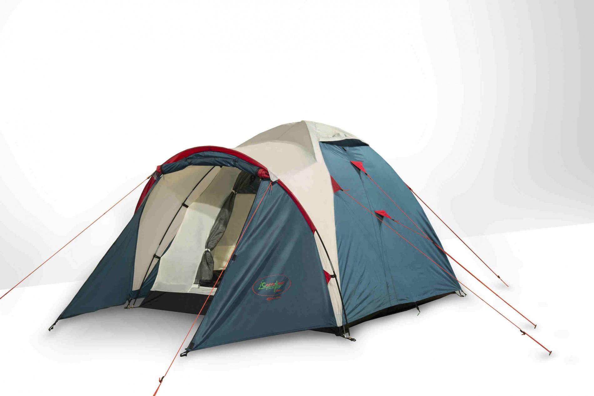 Палатка Canadian Camper KARIBU 2 (цвет royal дуги 8,5мм)Палатки<br>Палатка KARIBU 2 (цвет royal дуги 8,5мм) небольшая <br>уютная, пользуется особой популярностью <br>среди туристов и любителей комфортного <br>отдыха на природе. Ее легко можно брать <br>с собой на небольшой пикник с ночевкой, <br>подойдет она и для пеших походов или многодневного <br>палаточного лагеря. Палатка оснащена небольшим <br>тамбуром для вещей и навесом. Несмотря на <br>небольшие габариты и вес, она позволяет <br>комфортно разместиться небольшой группе <br>из 2-3 человек вместе со снаряжением.&amp;nbsp;<br>Компактная в сложенном виде, но при этом <br>просторная и высокая туристическая палатка <br>Canadian Camper Karibu 2 легко устанавливается.&amp;nbsp;<br>Характеристики Назначение&amp;nbsp; -&amp;nbsp; трекинговая<br>Внутренняя палатка&amp;nbsp; -&amp;nbsp; есть<br>Количество мест - 2<br>Тип каркаса&amp;nbsp; -&amp;nbsp;внешний<br>Геометрия - полусфера<br>Количество входов / комнат&amp;nbsp; -&amp;nbsp; 2 / 1<br>Количество тамбуров&amp;nbsp; -&amp;nbsp; 1<br>Количество вентиляционных окон&amp;nbsp; -&amp;nbsp; <br>2<br>Окна&amp;nbsp; -&amp;nbsp; нет<br>Внутренние карманы&amp;nbsp; -&amp;nbsp; есть<br>Навес&amp;nbsp; -&amp;nbsp; нет<br>Возможность крепления фонарика&amp;nbsp; -&amp;nbsp; <br>есть<br>Водостойкость тента/дна&amp;nbsp; -&amp;nbsp; 4000 / 6000 <br>мм в.ст.<br>Герметизация швов&amp;nbsp; -&amp;nbsp; проклеенные<br>Ветрозащитная/снегозащитная юбка&amp;nbsp; -&amp;nbsp; <br>нет<br>Противомоскитная сетка&amp;nbsp; -&amp;nbsp; есть<br>Защита от ультрафиолета&amp;nbsp; -&amp;nbsp; есть<br>Материал тента&amp;nbsp; -&amp;nbsp; полиэстер (75D 190T <br>PU)<br>Материал дна&amp;nbsp; -&amp;nbsp; полиэстер (75D 190T PU)<br>Материал внутренней палатки&amp;nbsp; -&amp;nbsp; полиэстер<br>Огнеупорная пропитка&amp;nbsp; -&amp;nbsp; есть<br>Материал дуг&amp;nbsp; -&amp;nbsp; стеклопластик<br>Размеры внешней палатки (ДхШхВ)&amp;nbsp; -&amp;nbsp; <br>310x160x135 см<br>Размеры внутренней палатки (ДхШ