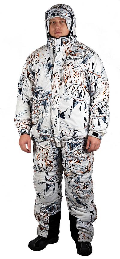 Комплект охотничий зимний TRACKER (куртка+брюки) Костюмы утепленные<br>Комплект охотничий зимний TRACKER (куртка+брюки)<br><br>Пол: мужской<br>Размер: L<br>Сезон: зима<br>Цвет: белый