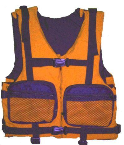 Жилет спасательный Бриз-1 р.48-52 (оранж.)Спасательные жилеты<br>Описание модели: Предназначен для использования <br>при проведении работ на плавсредствах, <br>для водных видов спорта, рыбалки, охоты. <br>Жилет является индивидуальным страховочным <br>средством, регулируется по фигуре человека <br>при помощи системы строп. На полочке и спинке <br>присутствует светоотражающая лента. Ткань <br>верха: Oxford Внутренняя ткань: Taffeta Наполнитель: <br>плавучий НПЭ. Цвет: оранжевый Застежка: <br>фастекс / пластик Два объемных кармана на <br>молнии Рекомендуемый вес на человека не <br>более (по размерам): 48-52 – 80 кг.<br>