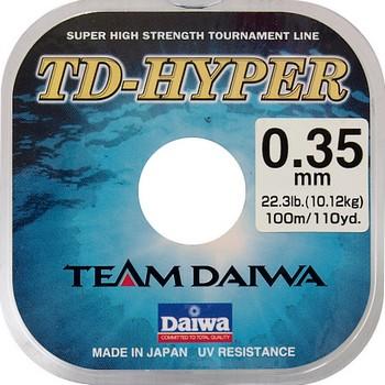 Леска DAIWA TD Hyper Tournament 0,35мм 100м (10шт.)Леска монофильная<br>Сверхпрочная леска » Материал: Высококачественный <br>нейлон » Защита от ультрафиолетовых лучей <br>» Размотка 100 м » Высокое японское качество<br><br>Сезон: лето