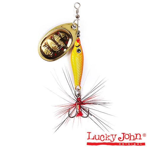 Блесна Вращающаяся Lucky John Trian Blade Round 06.0Г • 001