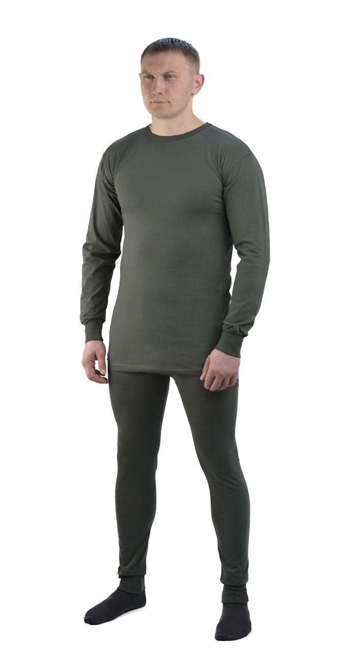 Белье трикотажное мужское (52-54, 170-176)Комплекты термобелья<br>Нательное белье функциональное и для повседневной <br>носки. Имеет анатомический крой с плоскими <br>швами. Размер: с 44-46 по 60-62 Рост: 170-176, 182-188<br><br>Пол: мужской<br>Размер: 52-54<br>Рост: 170-176<br>Сезон: все сезоны<br>Цвет: оливковый<br>Материал: Трикотаж (100% хлопок), пл. 180 г/м2