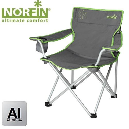 Кресло Складное Norfin Pori Nf AluСтулья, кресла<br>Складное кресло - прекрасный выбор для <br>ценящих комфорт рыбаков. При небольшом <br>весе и компактности хорошо выдерживает <br>большую нагрузку. - габариты 55х55х44/81 см; <br>- размер в сложенном виде 86x20x20 см; - максимальная <br>нагрузка 100 кг; - каркас: алюминий ?19<br><br>Сезон: лето<br>Цвет: зеленый<br>Материал: 600D polyester, PVC