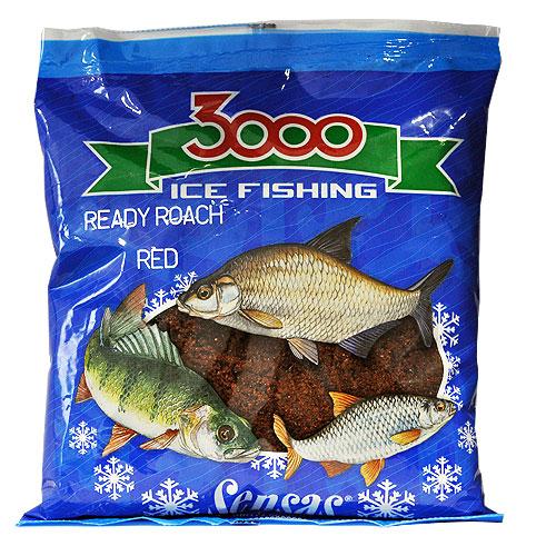 Прикормка Зим. Готовая Sensas 3000 Roach Red 0.5Кг 01022