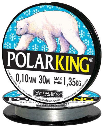 Леска BALSAX Polar King 30м 0,10 (1,35кг)Леска монофильная<br>Леска Polar King - создана специально для зимней <br>ловли. Очень хорошо выдерживает низкую <br>температуру. Поверхность обработана таким <br>образом, что она не обмерзает как стандартные <br>лески. Отлично подходит для подледного <br>лова. Даже в самом холодном климате, при <br>температуре до -40, она сохраняет свои свойства.<br><br>Сезон: зима