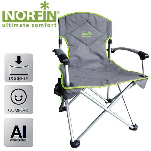 Кресло Складное Norfin Oriversi Nf АлюминиевоеСтулья, кресла<br>Кресло склад. Norfin ORIVERSI NF Alu Карк.алюм22мм/разм.67x61x98см/вес3,7кг/ <br>нагр.120кг/тр.разм.90x22x32 Кресло складное с <br>алюминиевым каркасом. Смягченное сиденье <br>и спинка. Сиденье большого размера позволяет <br>разместиться даже в объемной верхней одежде. <br>Прочное, выдерживает большие нагрузки. <br>Обтекаемые алюминиевые подлокотники, боковой <br>карман для мелочей. габариты (см): 67x61x98 Размер <br>в сложенном виде (см): 90x22x32 Вес (кг) 3,7 Максимальная <br>нагрузка (кг) 120 Материал: 600D polyester Каркас: <br>алюминий 22мм Комплектуется сумкой-чехлом <br>для удобства транспортировки<br><br>Цвет: зеленый