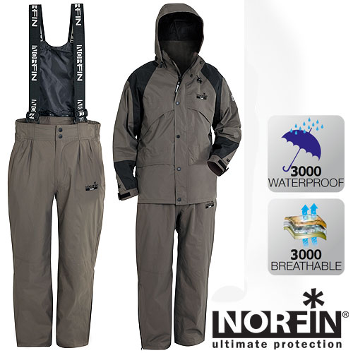 Костюм демисезонный Norfin Gale (XXXL, 31900-XXXL)Костюмы утепленные<br>Удобный костюм, идеально подходящий для <br>прохладной погоды весной или осенью. Подойдет <br>как для любителей рыбалки и активного отдыха, <br>так и для повседневной носки. Материал NORTEX <br>BREATHABLE обеспечит надежную защиту от влаги. <br>Все швы проклеены. В комплект входит куртка <br>и брюки. КУРТКА: - многочисленные карманы <br>с клапанами; - застегивается на молнию с <br>ветрозащитной тканевой планкой; - утягивающийся <br>съемный капюшон; - высокий воротник; - утягивающиеся <br>манжеты на застежке липучке. БРЮКИ: - высокая <br>съемная спинка для защиты от ветра; - регулируемые <br>по длине подтяжки; - эластичный пояс с резинкой; <br>- боковые молнии внизу манжет брюк.<br><br>Пол: мужской<br>Размер: XXXL<br>Сезон: демисезонный<br>Цвет: серый<br>Материал: мембрана