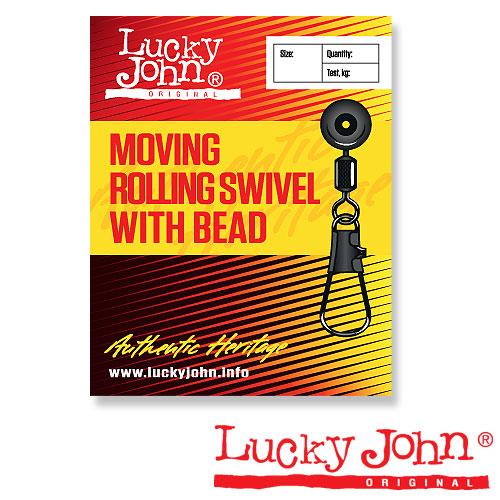 Вертлюги C Застежкой Mh Скольз. Lucky John Moving Rolling And Interlock 00S 10Шт. LJ5055-00S