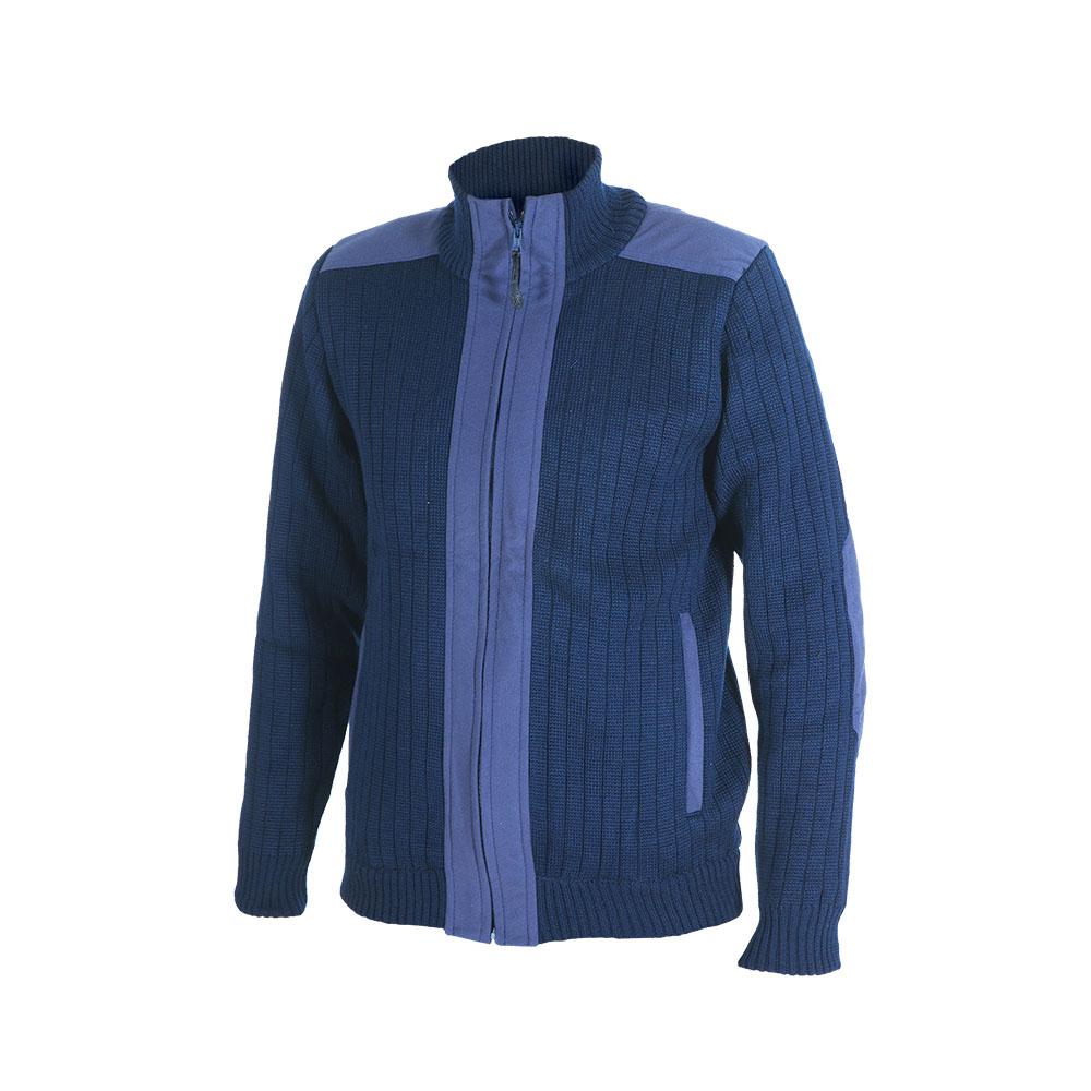 Куртка ХСН трикотажная (713-2) (Синий, 50/170, Джемпера<br>Куртка выполнена из пряжи-двунитки плотным <br>комбинированным переплетением. Изделие <br>хорошо защищают организм человека от холода. <br>Особенности: - застегивается на молнию; <br>- высокий воротник; - 2 кармана; - выполнена <br>из пряжи-двунитки плотным комбинированным <br>переплетением; - эластичные манжеты и низ; <br>- тканевые вставки для длительного ношения.<br><br>Пол: мужской<br>Размер: 50/170<br>Сезон: все сезоны<br>Цвет: синий<br>Материал: 30% шерсть, 70% синтетика