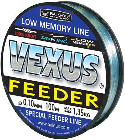 Леска BALSAX Vexus Feeder(Kevlon) 100м 0,10 (1,35кг)Леска монофильная<br>Леска Vexus Feeder (Kevlon) - прочность в местах <br>вязки узлов, высокая сопротивляемость истиранию, <br>малая восприимчивость к ультрафиолетовому <br>излучению, быстрота и легкость погружения <br>- преимущества, необходимые для успешного <br>применения на рыбалке.<br><br>Сезон: лето