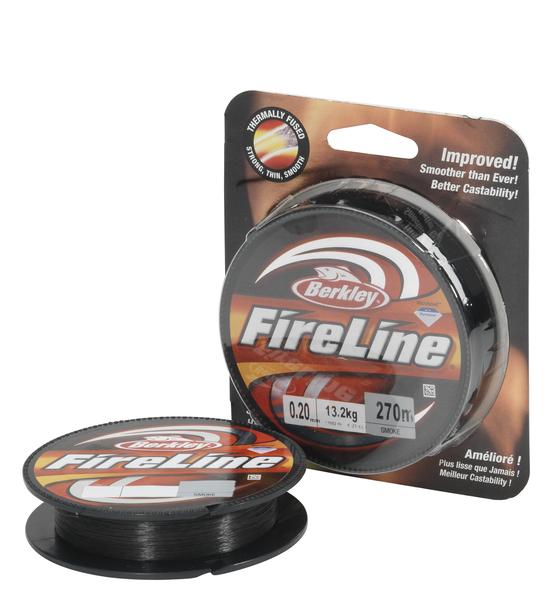 Леска плетеная BERKLEY FireLine Smoke 0.39mm (110m)(27.7kg)(серая)Леска плетеная<br>Шнур исключительно гладкий и круглый в <br>сечении, позволяет выполнять дальние забросы <br>и самое главное – удивительно прочный. <br>Цвет - серый - современная улучшенная упаковка, <br>позволяющая видеть шнур и потрогать его.<br>