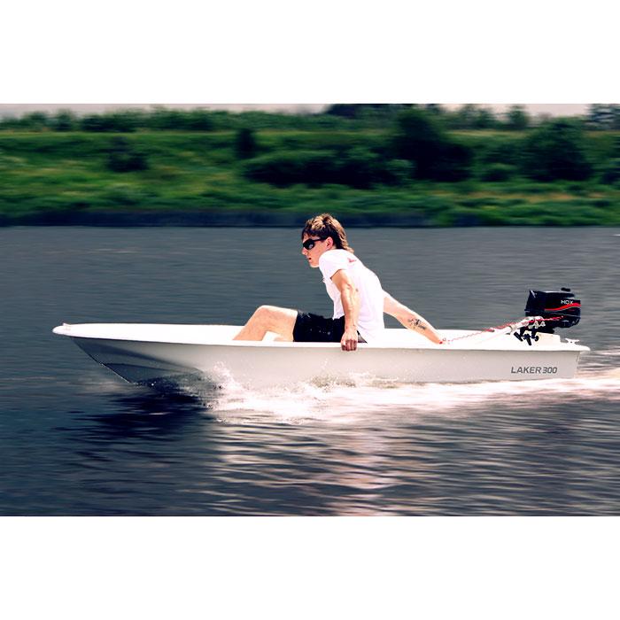 Лодка Laker Т300 БелыйМоторные или под мотор<br>Лодка LAKER 300, это лодка картоп которая весит <br>всего 40кг и может легко перевозиться на <br>автомобильном багажнике, при этом использоваться <br>как дополнительный объем для перевозимых <br>вещей.<br>