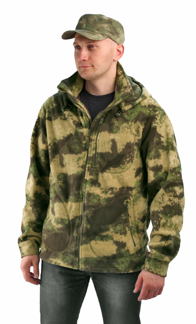 Флисовая мужская куртка Gerkon Picnic кмф цвет Куртки флисовые<br>Модельные особенности: - отстёгивающийся <br>капюшон с регулировкой по овалу лица и объему <br>– прорезные карманы на молнии – регулировка <br>объема по низу куртки<br><br>Пол: мужской<br>Сезон: демисезонный<br>Материал: Флис (100% полиэфир), пл. 250 г/м2