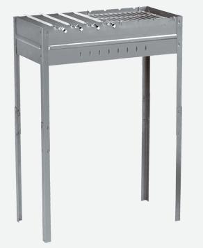 Мангал FORESTER разборный, с решеткой, 8 шампуровМангалы<br>Мангал сделан из жаропрочной углеродистой <br>стали 1,2 мм толщиной, имеет специальные <br>ребра жесткости. Все это придает конструкции <br>дополнительную прочность и позволяет готовить <br>как на углях, так и на дровах. Благодаря <br>большой рабочей поверхности — 62х30 см, можно <br>готовить несколько блюд одновременно. Мангал <br>имеет удлиненные ножки — 65 см, которые делают <br>процесс приготовления еды более комфортным. <br>Мангал легко устанавливается и так же легко <br>разбирается. В комплект входят 8 шампуров <br>длиной по 45 см каждый и решетка-гриль 30х30 <br>см.<br>