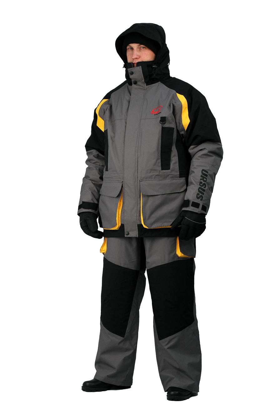 Костюм мужской зимний Ursus Explorer (M(48-50), 182-188)Костюмы утепленные<br>Предназначен для эксплуатации при температуре <br>до -30°C . Костюм разработан как одежда для <br>зимней рыбалки, с полной адаптацией для <br>езды на снегоходах. Отстёгивающаяся внутренняя <br>куртка с возможностью отдельного ношения. <br>КУРТКА Подкладка: флис и нейлон. Проклеенные <br>швы. Специальная конструкция подкладки <br>с зонами, улучшающими отвод влаги. Двухзамковая <br>застежка-молния YKK с клапаном. Капюшон крепится <br>с помощью замка-молнии. Фиксатор, стягивающий <br>куртку в области талии. Фиксатор, стягивающий <br>низ куртки. Снегозащитная юбка. Удобные <br>карманы внутри и снаружи. Теплый карман <br>для мобильного телефона. Эластичные неопреновые <br>манжеты. Регулируемые наружные манжеты <br>на рукавах. Светоотражающие нашивки безопасности. <br>Теплые карманы для согрева рук ПОЛУКОМБИНЕЗОН <br>Регулируемые по длине лямки. Подкладка <br>из флиса. Нагрудный карман. Два наружных <br>и внутренний карман. Усиление материала <br>в области колен и седалища Внутренние снегозащитные <br>гетры ткань верха: таслан /Водонепр.8000 мм <br>/Дыш.спос.мат6000г на кв.м за24ч/ Утеплитель <br>тинсулейт 300г/кв.м куртка, 200 г/кв.м капюшон <br>ГОСТ 25295-2003<br><br>Пол: мужской<br>Размер: M(48-50)<br>Рост: 182-188<br>Сезон: зима<br>Материал: «Таслан» (100% полиэстер) пл. 135 г/м2, ВО