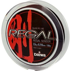 Леска Daiwa Regal Sensor 7.5-150Леска плетеная<br>Плетеный шнур с большим запасом прочности, <br>и максимально круглым сечением.<br>