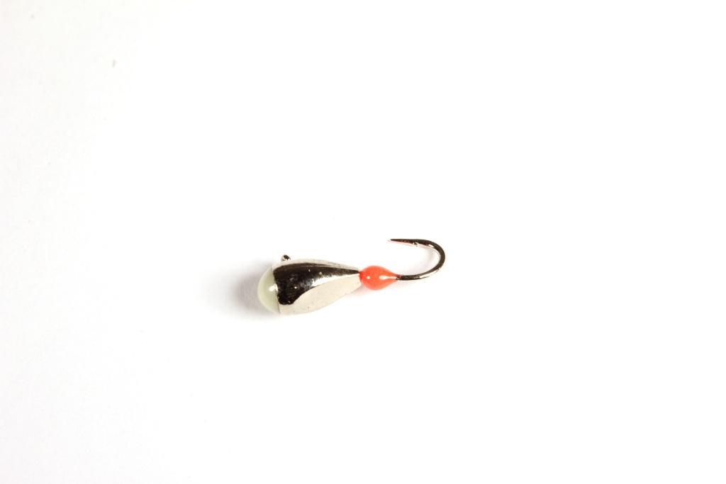 Морм. Вольф.Dixxon-Rus капля с ушком и фосфором Мормышки<br>Мормышка вольфрамовая для подледной ловли. <br>Крючок - FUDO (Япония) Вес - 2,75 г Цвет - золото<br>