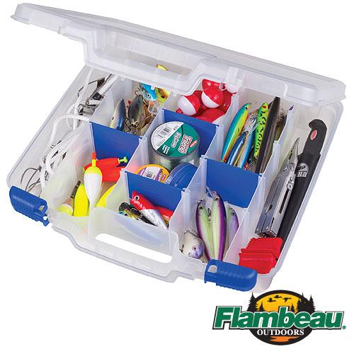 Коробка Рыболовная Пласт. Flambeau 8415 Tuff Tainer Коробки, кейсы<br>Коробка рыболов. пласт. Flambeau 8415 TUFF TAINER ZERUST <br>разм.38,1x 38,1см Коробка рыболовная пластиковая <br>Полупрозрачный дизайн - видно содержимое <br>4 фиксированных и 9 съёмных перегородок <br>С защитой приманок полимером ZERUST® Удобная <br>ручка для переноски<br><br>Сезон: Летний