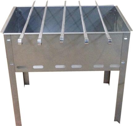 Мангал разборный малый в г/к (400х250х400) +5 Мангалы<br>Мангал разборный (+5 шампуров). Изготовлен <br>из стали. Размер: 400 х 250 х 400 мм.<br>