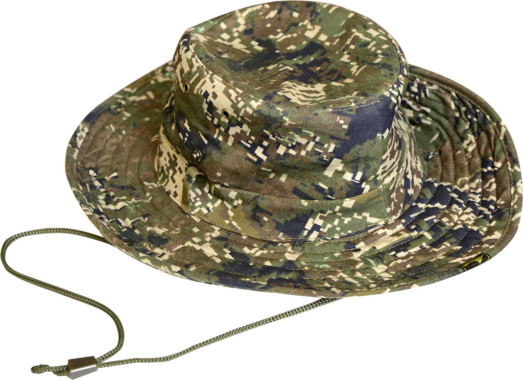 Шляпа ХСН «Шериф» (943-0) (Цифра кмф, 58, 943-0)Шляпы<br>Идеальный вариант для загородных поездок, <br>на природу, в путешествие, на рыбалку - охоту. <br>Защитит от солнца - насекомых. Комфортная <br>температура эксплуатации: от +15°С до +25°С. <br>Особенности: - поля пристёгиваются к тулье <br>на кнопки; - вентиляционные отверстия; - <br>для удобного ношения снабжена шнуром.<br><br>Пол: унисекс<br>Размер: 58<br>Сезон: лето<br>Цвет: зеленый<br>Материал: Твил (сетка)