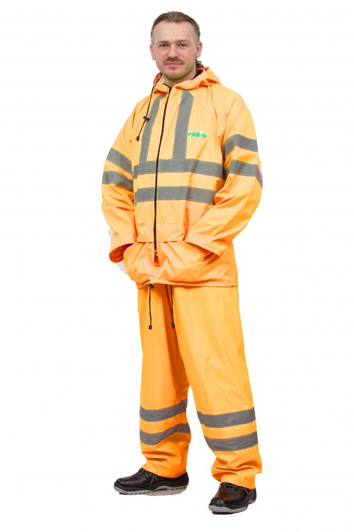 Куртка «Extra Vision WPL» нейлоновый оранжевый Куртки неутепленные<br>Влагозащитная куртка повышенной видимости. <br>Имеет светоотражающие полосы. Соответствует <br>3-му классу по ГОСТ Р 12.4.219-99 «Одежда специальная <br>сигнальная повышенной видимости». Удобная <br>конструкция: куртка с застежкой на молнии, <br>клапаном против ветра, капюшоном, двумя <br>карманами с клапанами, манжетами на рукавах. <br>Проклеенные швы: все швы куртки загерметизированы <br>специальной лентой.<br><br>Пол: мужской<br>Размер: 48-50<br>Рост: 182-188<br>Сезон: демисезонный<br>Цвет: ярко-оранжевый<br>Материал: текстиль