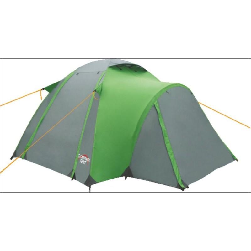 Палатка туристическая CAMPACK-TENT Hill Explorer 2Палатки<br>Интересная палатка для любителей путешествий. <br>Конструкция Hill Explorer 2 позволяет устанавливать <br>палатку без дополнительных оттяжек. Место <br>для хранения снаряжения интегрировано <br>во внутреннюю палатку. Палатка имеет три <br>входа, два из которых имеют противоположное <br>расположение и могут использоваться для <br>дополнительной вентиляции в жаркую погоду. <br>Внутри палатки имеется подвеска для фонаря <br>и карманы для хранения мелочей. Проклеенные <br>швы гарантируют герметичность и надежность <br>в любой ситуации. Ткань тента:190T P. Taffeta PU <br>3000MM Ткань палатки:170T P. Taffeta + MESH Ткань дна:Tarpauling <br>Вес: 4,9 кг Дуги: 8,5 мм Ремнабор: Самоклеющиеся <br>заплатки 100 х 100 мм из ткани 190T P. Taffeta PU 3000MM<br>