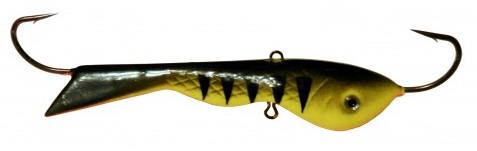 Балансир DIXXON БЫЧОК ( цвет 10 ) 110 г/ 100 ммБалансиры<br>Тяжелый балансир для ловли со льда. Оснащен <br>высококачественными впаянными крючками <br>пр-во Корея. Подвесной тройник MUSTAD с каплей. <br>Застежка - MARUTO (Япония)<br>