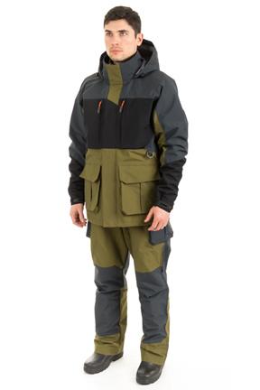 Костюм Azimut (Таслан/Зеленый, серый, черный) Костюмы неутепленные<br>КостюмAzimut состоит из удлиненной куртки <br>и полукомбинезона, разработан для рыбалки <br>в летний период. Удобный костюм не стесняющий <br>движения с анатомическим кроем, изготовленный <br>из качественного материала с комбинированными <br>по цветам тканями. Сочетает в себе теплоизолирующие, <br>ветра и влагоустойчивые показатели и прочностью <br>наружного слоя. Куртка: 1) Объемная удлиненная <br>куртка; 2) Анотомический крой; 3) Наличие <br>светоотражающих элементов; 4) 5 карманов: <br>3 кармана на молнии, 2 нижних кармана увеличивающиеся <br>в объеме; 5) Двойная регулировка объема капюшона; <br>6) Имеется центральная застёжкой-молния <br>с ветрозащитной защитной планкой; 7) Проклееные <br>швы; 8) Капюшон укладывается в воротник; <br>9) Низ рукавов с хлястиками на контактной <br>ленте; 10) Низ куртки с эластичным шнуром <br>и фиксаторами. Полукомбинезон: 1) Проклееные <br>швы; 2) Анатомический крой; 3) Наличие светоотражающих <br>элементов; 4) 6 карманов: 4 кармана на молнии, <br>2 нижних накладных кармана увеличивающиеся <br>в объеме; 5) Низ брюк с хлястиками на контактной <br>ленте; 6) По боковому шву от середины бедра <br>молния с защитной планкой до низа; 7) Полукомбинезон <br>на эластичных помочах с фастексами и пряжками. <br><br><br>Пол: мужской<br>Размер: 60-62<br>Рост: 170-176<br>Сезон: демисезонный<br>Цвет: оливковый