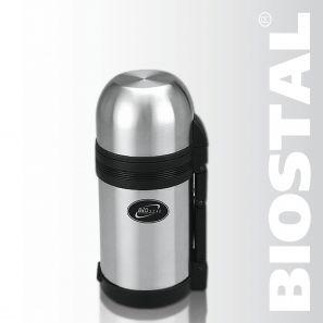 Термос Biostal NG-800-1 0,8л (универсальный, складная Термосы<br>Легкий и прочный Сохраняет напитки и продукты <br>горячими или холодными долгое время Изготовлен <br>из высококачественной нержавеющей стали <br>Конструкция пробки позволяет использовать <br>термос как для напитков, так и для первых <br>и вторых блюд С удобной ручкой и ремешком <br>для переноски С крышкой-чашкой и дополнительной <br>пластиковой чашкой Гарантия на термос 1 <br>год. Характеристики: Артикул: NG-800-1 Объем: <br>0,8 литра Высота: 20,5 см Диаметр: 10,6 см Вес: <br>780 г Размеры упаковки: 11,2х12,2х22,2 см Универсальный <br>пищевой термос NG-800-1 ТМ «BIOSTAL» относится <br>к классической серии. Термосы этой серии, <br>являющейся лидером продаж, просты в использовании, <br>экономичны и многофункциональны. Универсальный <br>термос выполняет функции термоса для еды <br>(первого или второго) и термоса для напитков <br>(кофе, чая). Это достигается благодаря специальной <br>универсальной пробке, которая изготовлена <br>из прочного пластика, легко разбирается <br>для мытья и, обладая дополнительной теплоизоляцией, <br>позволяет термосу дольше хранить тепло.<br>