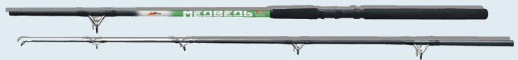 Спиннинг Медведь 2,10м (5-20г)Спинниги<br>Представляем серию спиннинговых удилищ <br>«МЕДВЕДЬ». Бланки спиннингов изготовлены <br>с применением непрерывной, продольно-поперечной <br>намотки высококачественного стекловолокна, <br>что позволило увеличить его жесткость, <br>надёжность и долговечность. Двухсекционный <br>штекерный спиннинг предназначен для любительской <br>ловли хищной рыбы. Спиннинги хорошо сбалансированы, <br>что позволяет достичь большой дальности <br>и точности заброса. Удилища оснащены кольцами <br>с керамическими вставками. Соединение колен <br>усилено дополнительной примоткой, поэтому <br>имеет абсолютную надёжность. Серия штекерных <br>спиннингов «МЕДВЕДЬ» создана в соответствии <br>с условиями российской рыбалки и представлена <br>разными классами: • сверхлегкими (2-15 г) <br>• легкими (5-20 г) • средними (30-60г), (30-80) • <br>мощными (40-90г). Применяя приманку весом в <br>пределах указанного диапазона, рыбак получает <br>максимальную дальность и точность заброса <br>оснастки. Длина, м:2,1 Транспортная длина, <br>см; 112 Масса не более, кг:0,19 Кол. звеньев, <br>шт:2 Тест, гр:5-20 Максимальная нагрузка, кг:7,5<br>