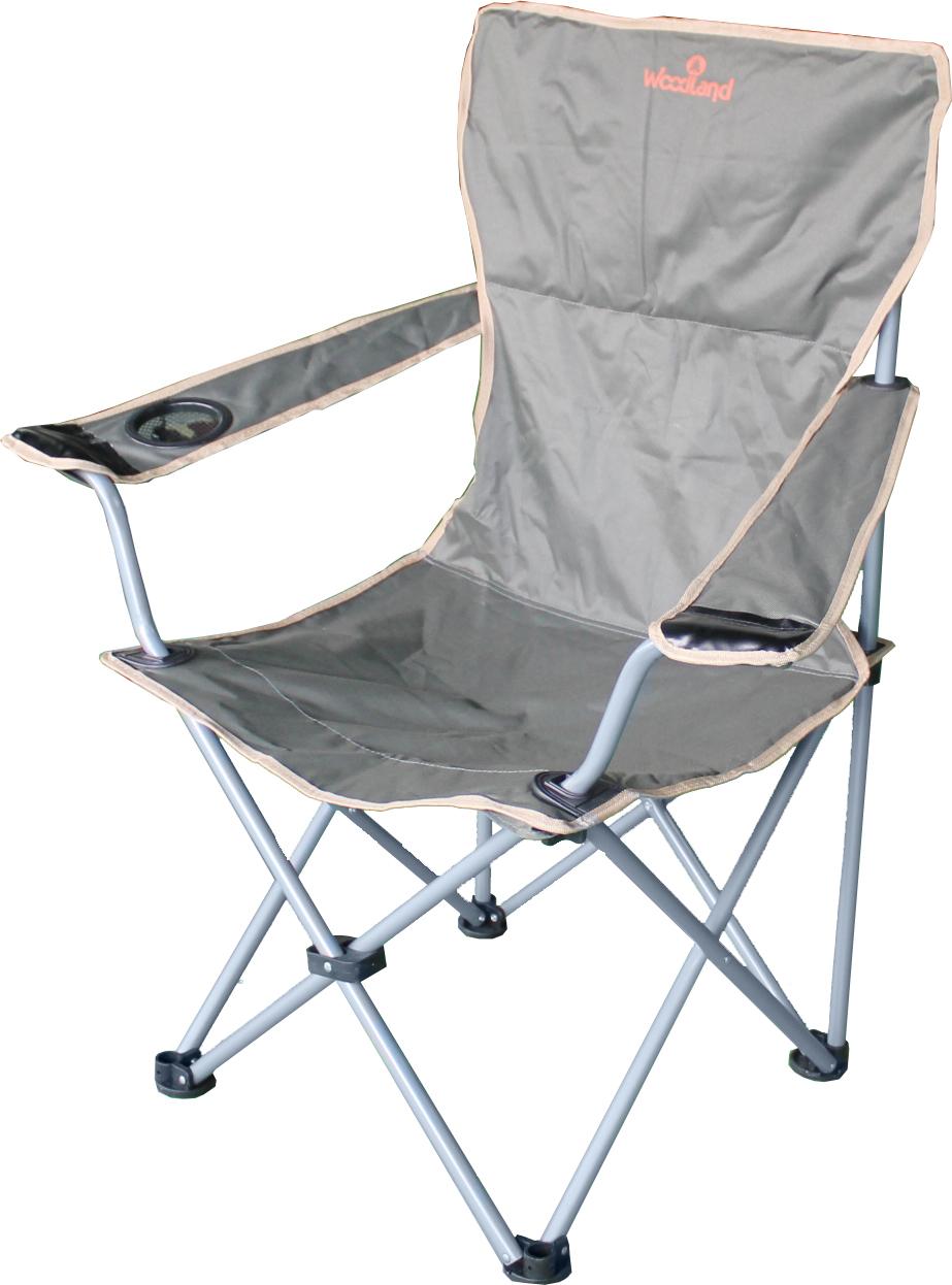 Кресло Woodland Comfort, складное, кемпинговое, Стулья, кресла<br>Материалы: Сталь ? 18 мм. Oxford 600D Размеры: <br>54 x 54 x 98 см. Вес: 2,9 кг. Компактная складная <br>конструкция в тубус. Прочный стальной каркас, <br>диаметром 18 мм. Усиленное крепление материала <br>к каркасу на рукоятках и спинке. Удобные <br>подлокотники с отделением для напитка. <br>Водоотталкивающее ПВХ покрытие ткани Oxford <br>600D. Максимально допустимая нагрузка 110 кг.<br>