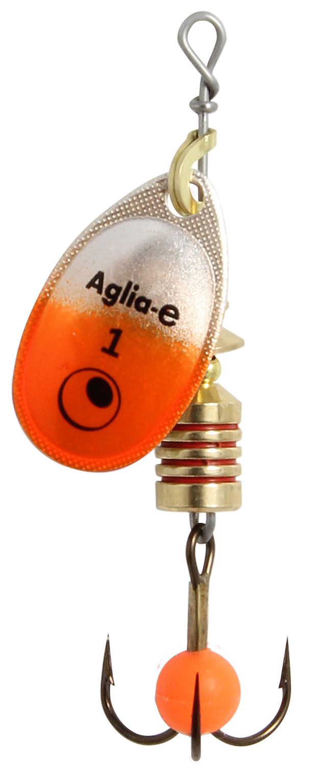 Блесна вращ. MEPPS Aglia E №1 Orange Bright (12шт)Блесны<br><br>