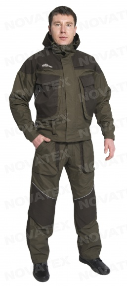 Костюм «Перекат» (таслан, хаки) GRAYLING (60-62 Костюмы неутепленные<br>Костюм «Перекат» (ТМ «Payer») – костюм, разработанный <br>специально для рыбаков и туристов-водников, <br>а также людей, чьи интересы связаны с длительным <br>нахождением у водоемов. В нем не жарко в <br>теплую погоду, и не холодно в прохладную. <br>Мембранная ткань обладает мощными водоотталкивающими <br>свойствами. Это костюм сложного анатомического <br>кроясостоит из куртки с прямо таки огромными <br>карманами и полукомбинезона. В области <br>коленей и локтей костюма присутствуют изолоновые <br>вставки.<br><br>Пол: мужской<br>Размер: 60-62<br>Рост: 182-188<br>Сезон: лето<br>Цвет: оливковый