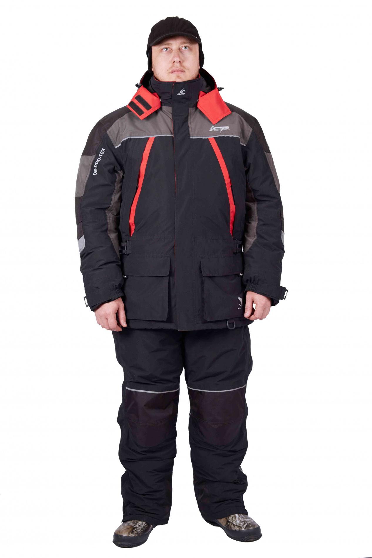 Костюм универсальный зимний VIKING (куртка+брюки)  (BLACK/GREY, XXL)