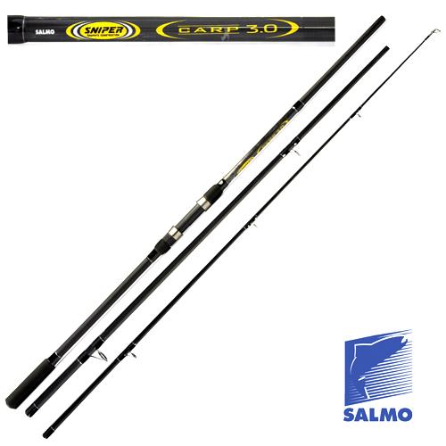 Удилище Карповое Salmo Sniper Carp 3.00Lb/3.60Удилища карповые<br>Удилище карп. Salmo Sniper CARP 3.00lb/3.60 дл.3.60м/тест <br>3.0lb/строй M/442г/3ч./дл.тр.125см Достаточно мощное <br>карповое удилище среднего стоя из композитного <br>материала. Удилище имеет три колена, благодаря <br>чему стало компактным при перевозке. Бланк <br>укомплектован усиленными кольцами на двух <br>опорах со вставками SIC и разнесенной рукояткой <br>из материала EVA с нижней гайкой крепления <br>катушки. Этими карповыми удилищами можно <br>забрасывать приманки весом до 120 г. Материал <br>бланка удилища – композит. • Строй бланка <br>средний • Конструкция штекерная • Соединение <br>колен типа OVERSTEEK • Кольца пропускные: – <br>усиленные двухопорные – со вставками SIC <br>• Рукоятка: – EVA – разнесенная • Катушкодержатель <br>винтового типа<br><br>Сезон: лето
