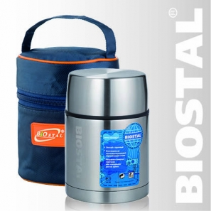 Термос Biostal Авто NRP-600 0,6л (широкое горло,суповой)Термосы<br>С термочехлом для дополнительной теплоизоляции, <br>хранения и переноски термоса Легкий и прочный <br>Сохраняет напитки и продукты горячими или <br>холодными долгое время Изготовлен из высококачественной <br>нержавеющей стали Корпус покрыт защитным <br>прозрачным лаком Предназначен для первых <br>и вторых блюд Гарантия на термос 1 год. Характеристики: <br>Артикул: NRР-600 Объем: 0,6 литра Высота: 15,7 см <br>Диаметр: 10,2 см Вес: 480 г Размеры упаковки: <br>12см х 12см х 17,8см Пищевой термос с широким <br>горлом NRP-600 ТМ «BIOSTAL» относится к серии «АВТО» <br>премиум-класса. Термосы этой серии вобрали <br>в себя самые передовые энергосберегающие <br>технологии и отличаются применением более <br>совершенных термоизоляционных материалов, <br>а так же новейшей технологией по откачке <br>вакуума. Термосы с широким горлом предназначены <br>для хранения горячей пищи (преимущественно <br>вторых блюд), холодной пищи (замороженных <br>продуктов, мороженного и пр.), фруктов и <br>льда. Пробка, обладая дополнительной теплоизоляцией, <br>позволяет термосу дольше хранить тепло. <br>Термосы поставляются в ярком стильном термочехле, <br>изготовленном из современных материалов <br>с повышенными термоизоляционными свойствами. <br>Назначение чехла помимо хранения и переноски <br>термоса - увеличить время хранения тепла <br>в термосе в температурном диапазоне, заявленном <br>в его технических показателях.<br>