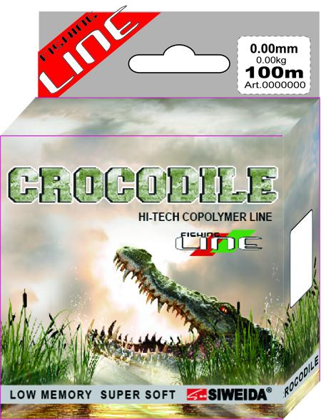 Леска SWD Crocodile 100м 0,2 (4,10кг) прозрачнаяЛеска монофильная<br>Популярная прочная монофильная леска сечением <br>0,20мм (разрывная нагрузка 4,1кг) в размотке <br>по 100м (индивидуальная упаковка) для всех <br>видов ловли. Имеет среднюю жесткость, что <br>позволяет делать быструю подсечку и уверенное <br>вываживание. Устойчива к истиранию и ультрафиолетовому <br>излучению. Герметичная ваккумная упаковка <br>сохраняет свойства новой лески на протяжении <br>многих лет. Цвет - прозрачный.<br><br>Сезон: лето